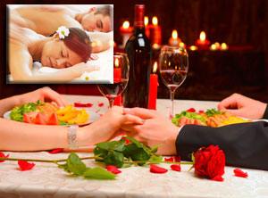 Relaxing Massage for two + SPA + ROMANTIC DINNER FOR TWO